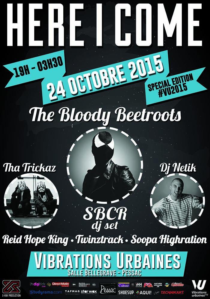 Festival des Vibrations Urbaines: The Bloody Beetroots (SBCR dj set), Tha Trickaz, Dj Netik, Twinztrack & guest – 24/10/15 – Pessac (33) AFFICHES%20HIC%20VU%20WEB_zpsblpyq8ds