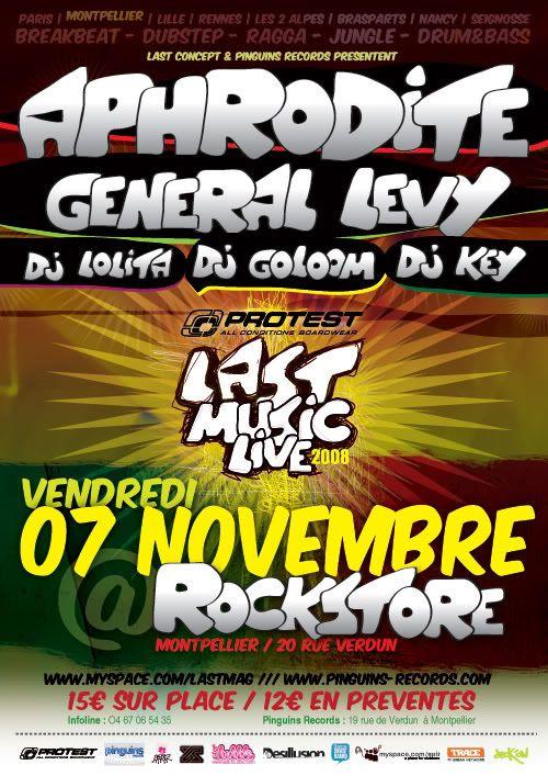 7 Nov - Protest LAST Music Live @ MONTPELLIER / Rockstore Affiche_mtp3