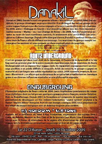 15/10 BOURGES / DANAKIL/ ROOTZ UNDERGROUND/ ONDUBGROUND Danak_flyer_BOURGES_verso_WEB-1