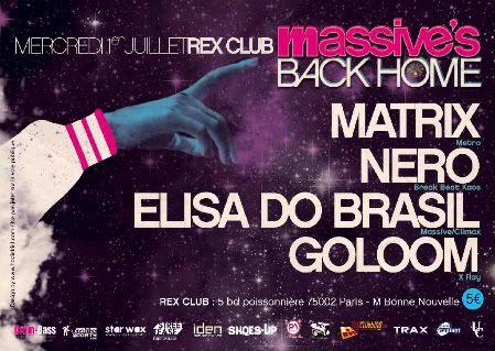 MASSIVE's Back Home - 1er Juillet @ Rex Club Massive3versocopy