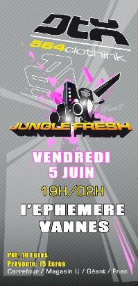 Vendredi 5 Juin : Jungle Fresh 2 @ L'éphémère (Vannes) Rectojunglefresh2