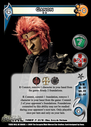 There Will Be Brawl Fanset - Universal Fighting System CCG (Partial Promo Set 2 Up) 1P01-Ganon2