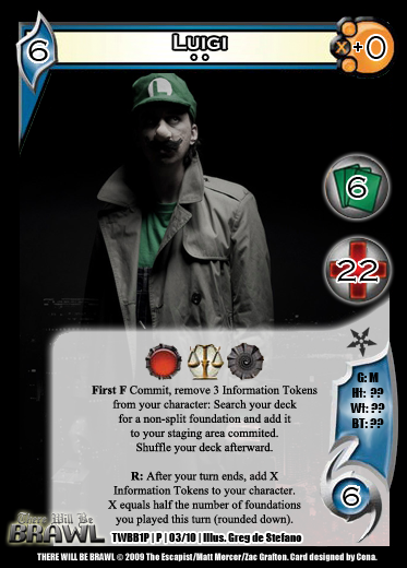 There Will Be Brawl Fanset - Universal Fighting System CCG (Partial Promo Set 2 Up) 1P03-Luigi2