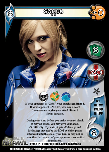There Will Be Brawl Fanset - Universal Fighting System CCG (Partial Promo Set 2 Up) 1P05-Samus2