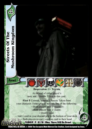 There Will Be Brawl Fanset - Universal Fighting System CCG (Partial Promo Set 2 Up) 1P07-StreetsoftheMushroomKingdom