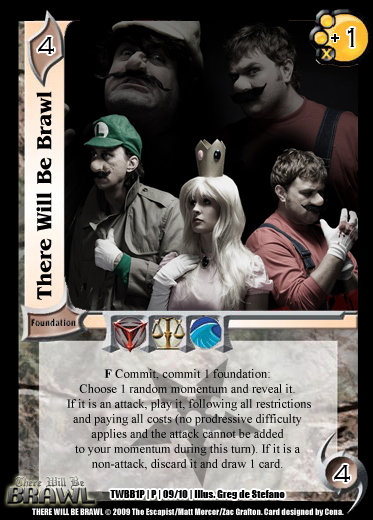There Will Be Brawl Fanset - Universal Fighting System CCG (Partial Promo Set 2 Up) 1P09-ThereWillBeBrawl