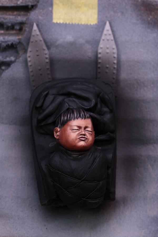 Buste Mere Indienne et son Enfant Etape1