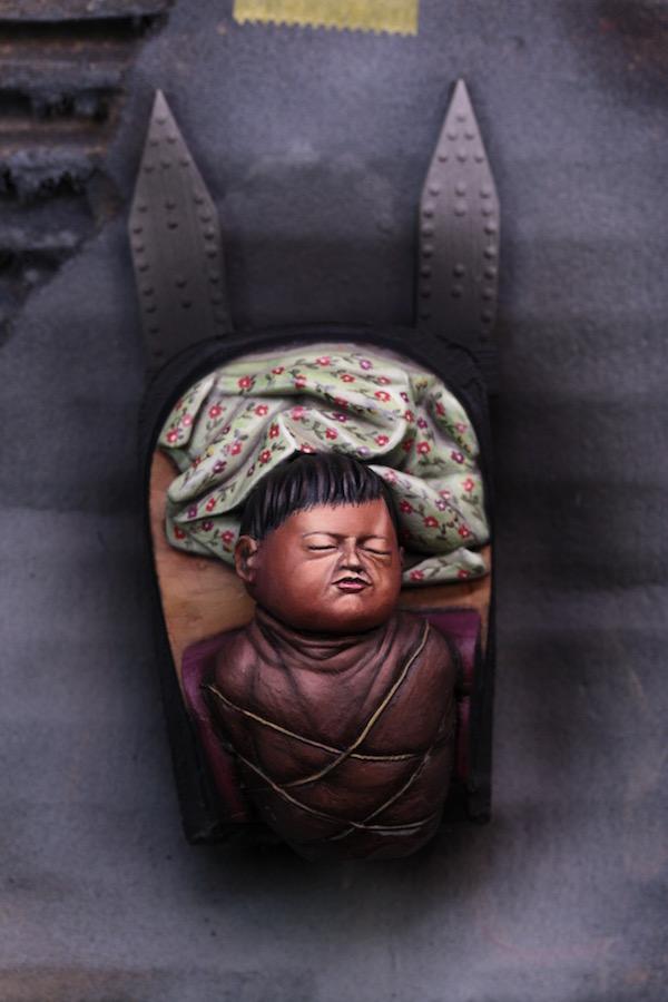 Buste Mere Indienne et son Enfant Etape3