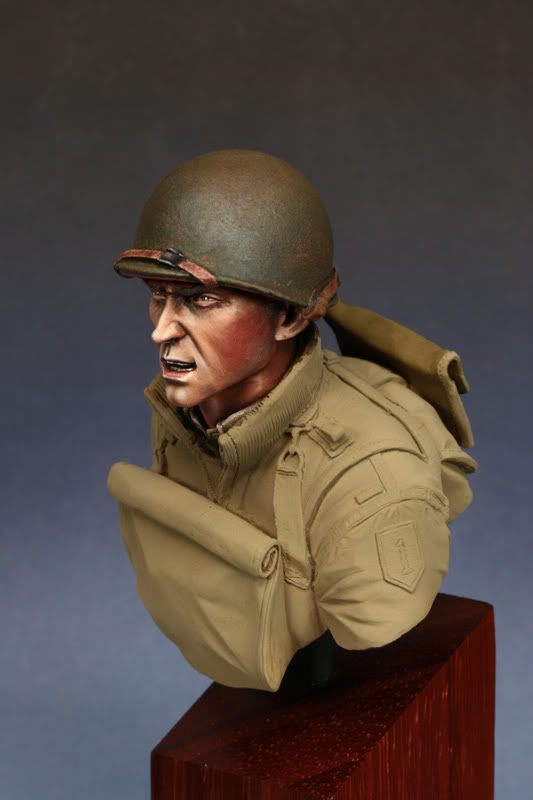 Bust (LB Miniatures) GI Big Red One Etape3