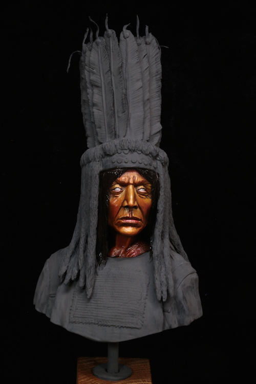 Buste Blackfoot Warrior FINI Etape1