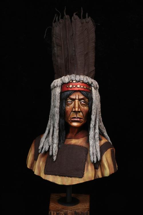 Buste Blackfoot Warrior FINI Etape10