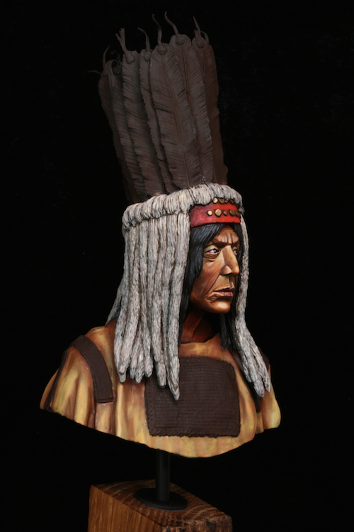 Buste Blackfoot Warrior FINI Etape11