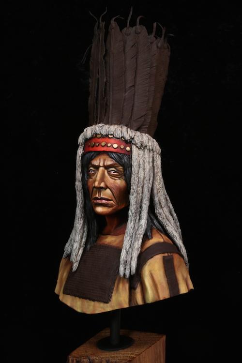 Buste Blackfoot Warrior FINI Etape12