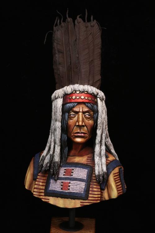 Buste Blackfoot Warrior FINI Etape13