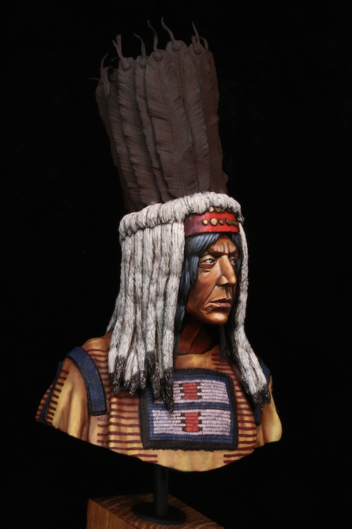 Buste Blackfoot Warrior FINI Etape14