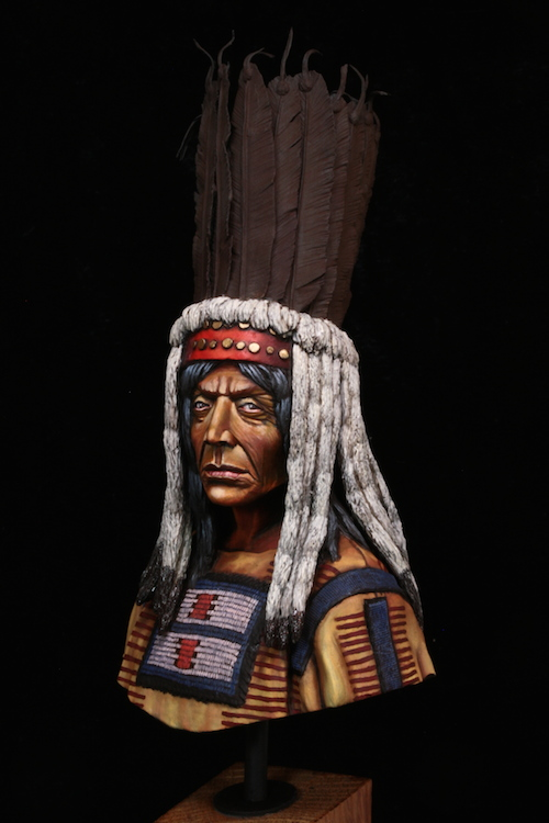 Buste Blackfoot Warrior FINI Etape15
