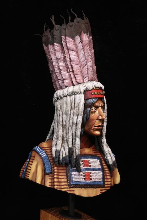 Buste Blackfoot Warrior FINI Etape17