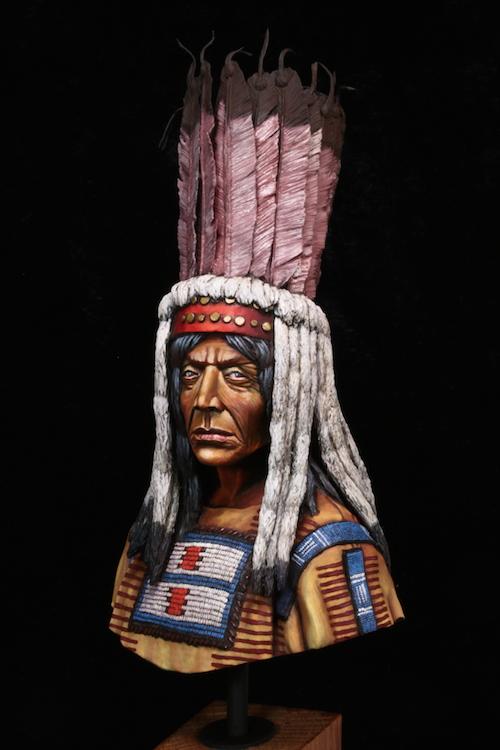Buste Blackfoot Warrior FINI Etape18