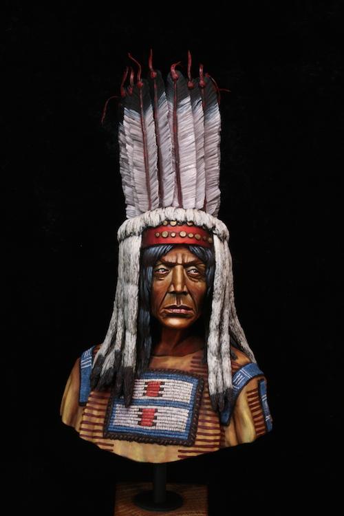 Buste Blackfoot Warrior FINI Etape19