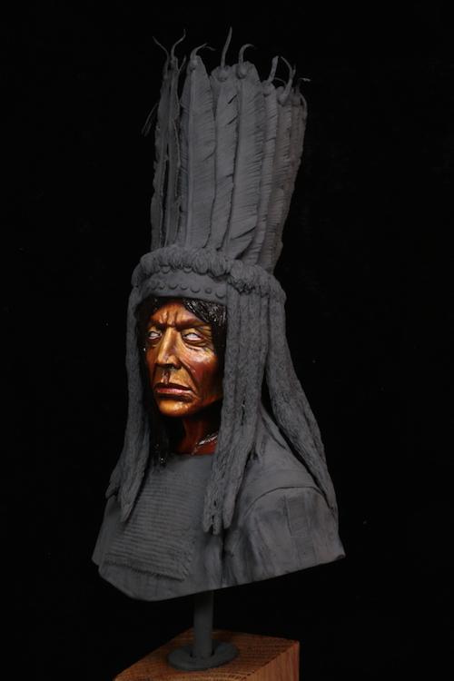 Buste Blackfoot Warrior FINI Etape2