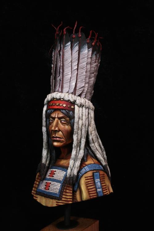 Buste Blackfoot Warrior FINI Etape20