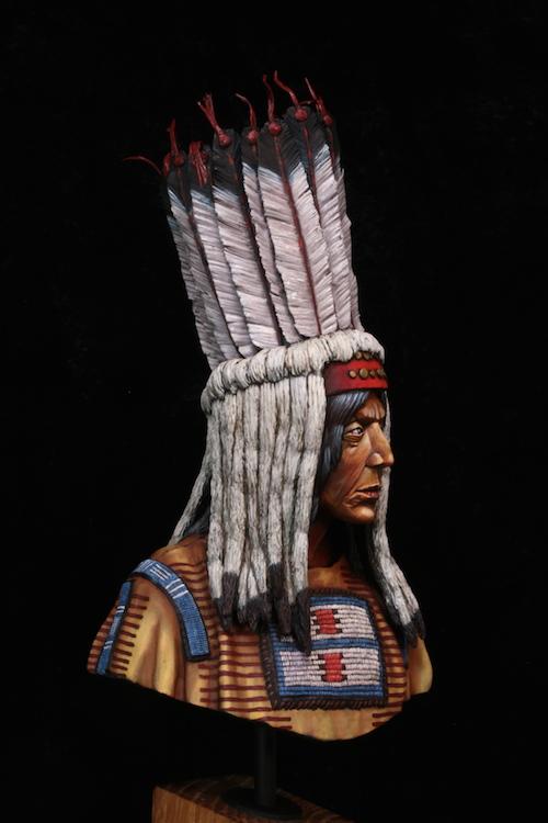 Buste Blackfoot Warrior FINI Etape21