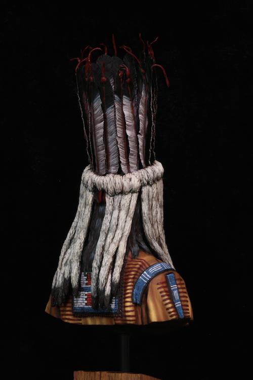 Buste Blackfoot Warrior FINI Etape22