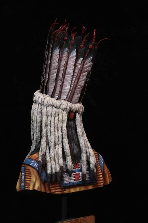 Buste Blackfoot Warrior FINI Etape23