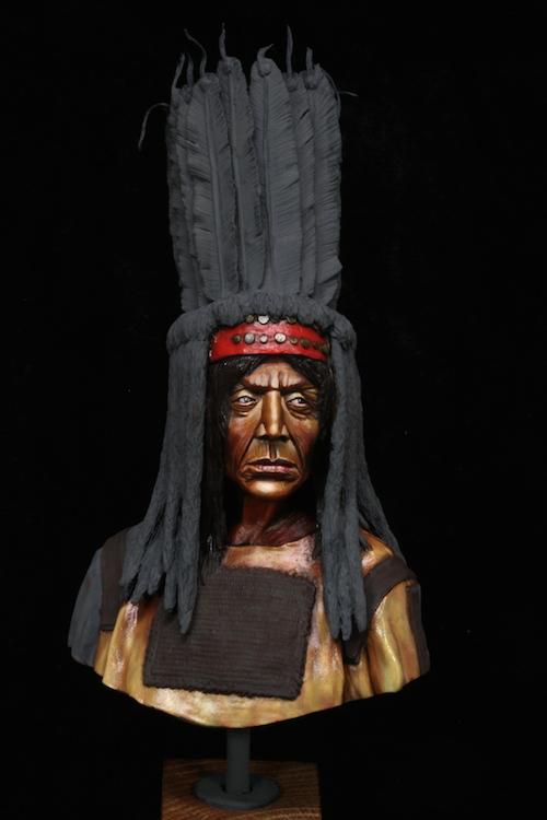 Buste Blackfoot Warrior FINI Etape4