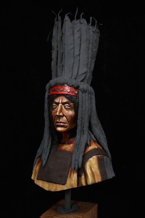 Buste Blackfoot Warrior FINI Etape5