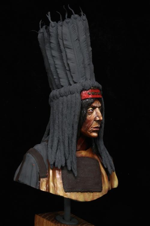 Buste Blackfoot Warrior FINI Etape6