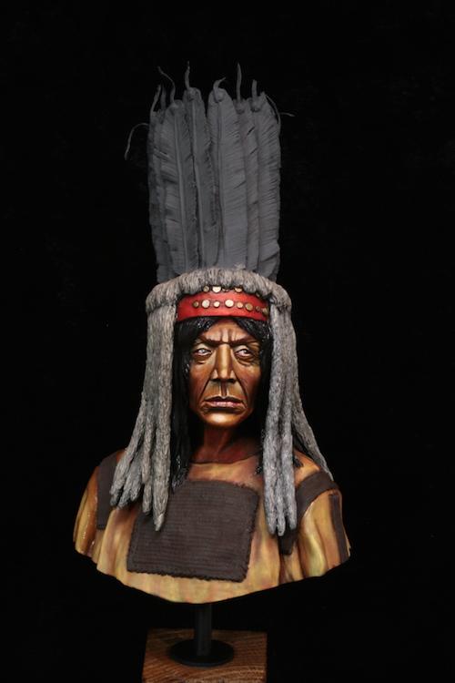 Buste Blackfoot Warrior FINI Etape7