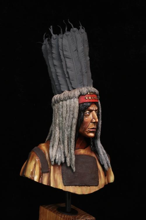 Buste Blackfoot Warrior FINI Etape8