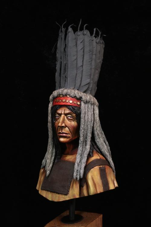 Buste Blackfoot Warrior FINI Etape9