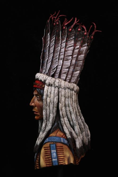 Buste Blackfoot Warrior FINI Final7