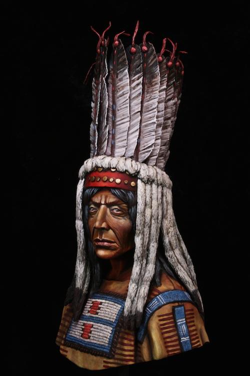 Buste Blackfoot Warrior FINI Final8