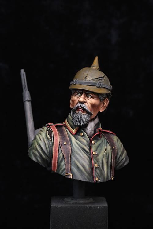 Buste de Soldat Allemand 1914 Etape10