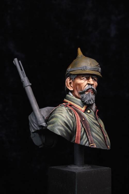 Buste de Soldat Allemand 1914 Etape11