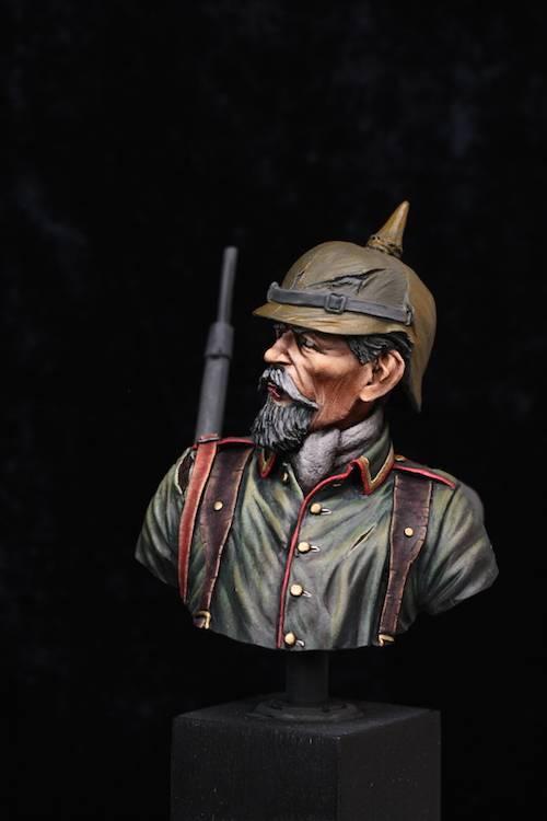 Buste de Soldat Allemand 1914 Etape12