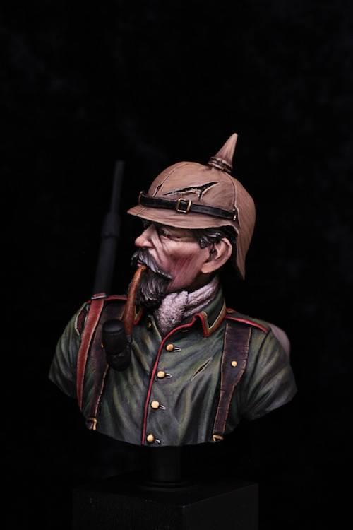 Buste de Soldat Allemand 1914 Etape15