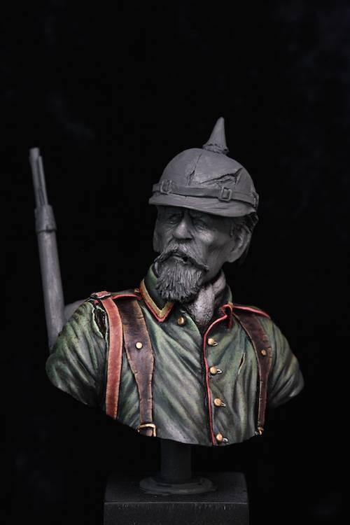 Buste de Soldat Allemand 1914 Etape7