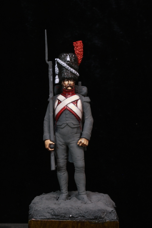 Sergent des Grenadier Hollandais (Metal Modeles) 54mm Etape1