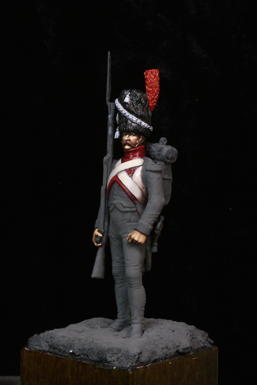 Sergent des Grenadier Hollandais (Metal Modeles) 54mm Etape3