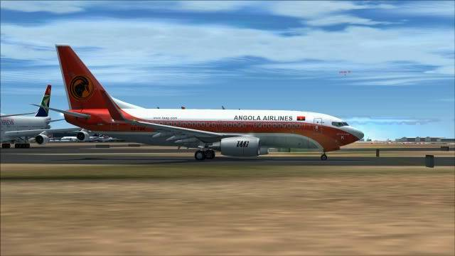 TAAG B737 D2-TBK Delivery Flight Fs92011-12-2511-14-15-48