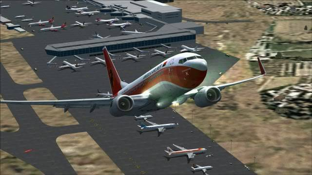 TAAG B737 D2-TBK Delivery Flight Fs92011-12-2511-18-22-28