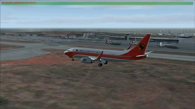TAAG B737 D2-TBK Delivery Flight Fs92011-12-2516-32-14-35