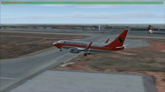 TAAG B737 D2-TBK Delivery Flight Fs92011-12-2516-32-18-81