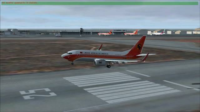TAAG B737 D2-TBK Delivery Flight Fs92011-12-2516-32-23-26