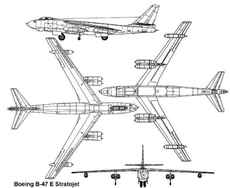 PROYECTOS INCONCLUSOS DE LA AERONÁUTICA ALEMANA DE LA S.G.M. - Página 9 BoeingB-47stratojet_esquema