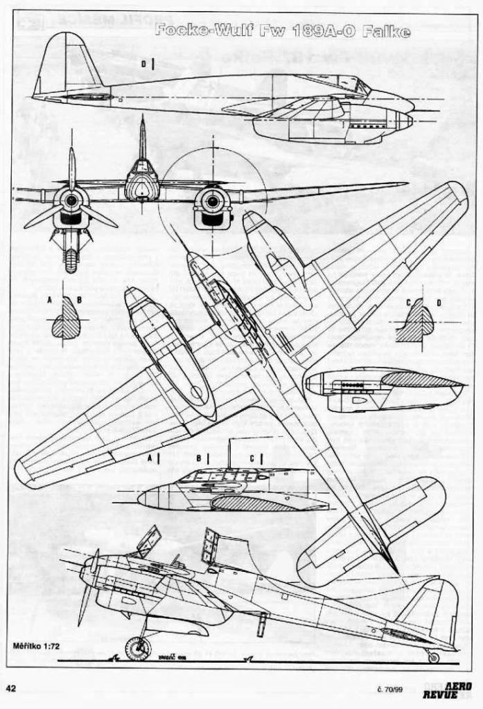 PROYECTOS INCONCLUSOS DE LA AERONÁUTICA ALEMANA DE LA S.G.M. - Página 9 Focke_wulf_fw_187_dibujo_dos